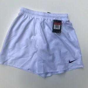 Nike Girls White Soccer Shorts